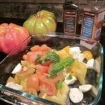 Tomato Bocconcini and Basil Salad