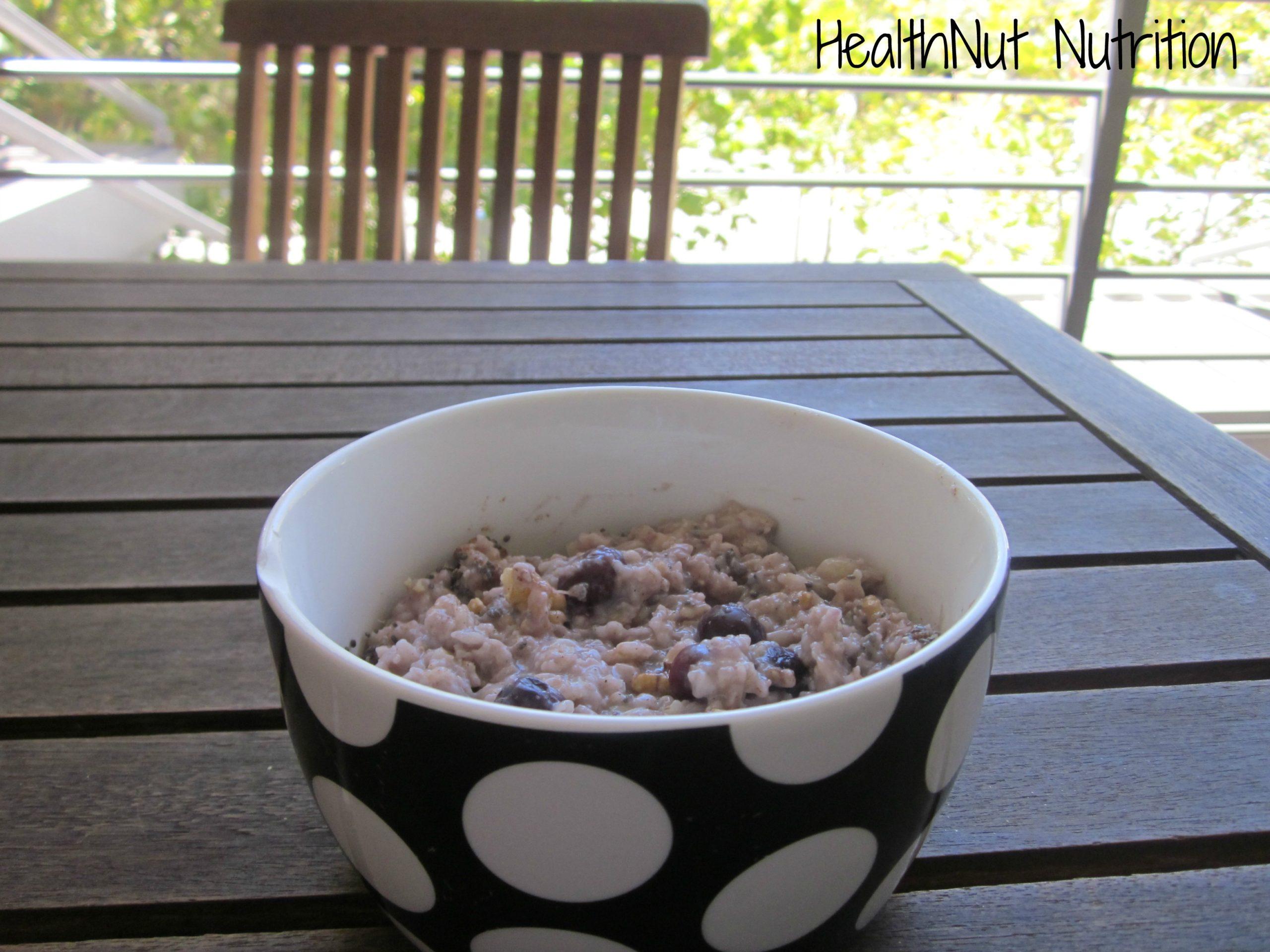 finished oatmeal