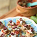 Mini Greek Salad Recipe   Healthy Snack Ideas