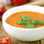 Creamy Roasted Red Pepper Tomato Soup | Healthy Vegan Recipe