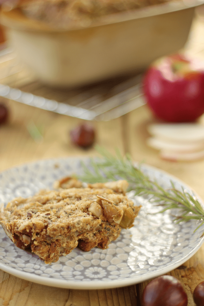 Apple Chestnut Stuffing Loaf | Thanksgiving Recipes
