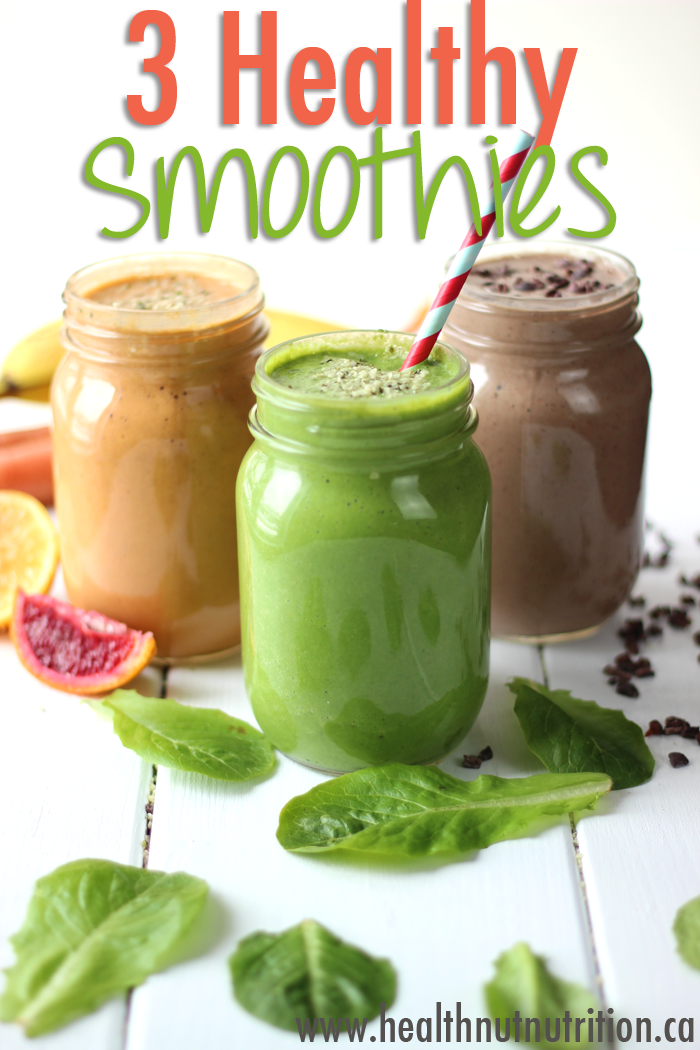 3 healthy breakfast smoothies