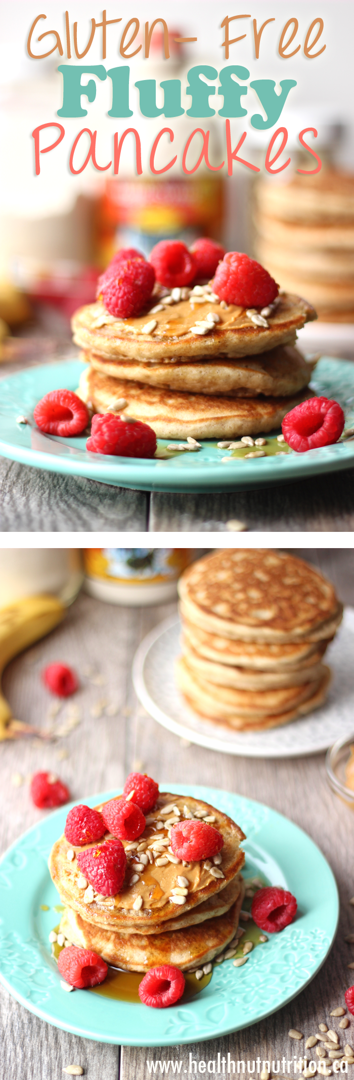 Sundays mornings just got better with these healthy, fluffy and gluten-free pancakes drizzled with Canadian maple syrup.