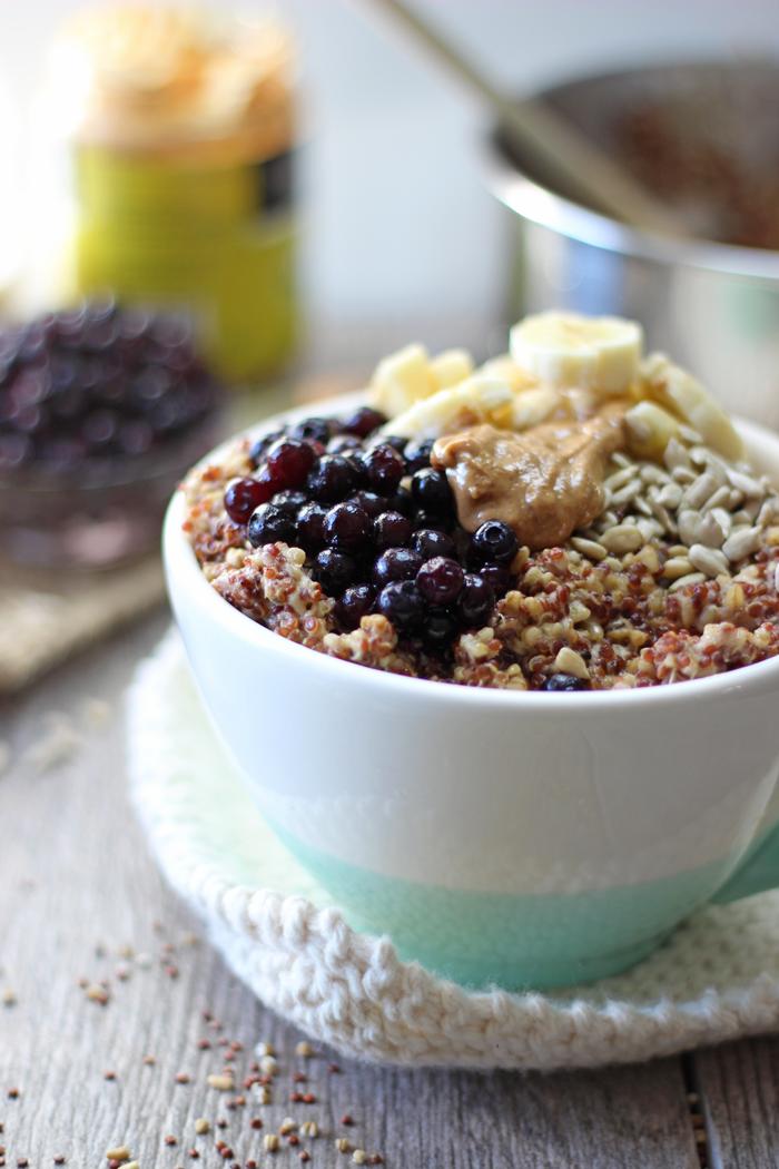Easy vegan red quinoa oatmeal recipe!