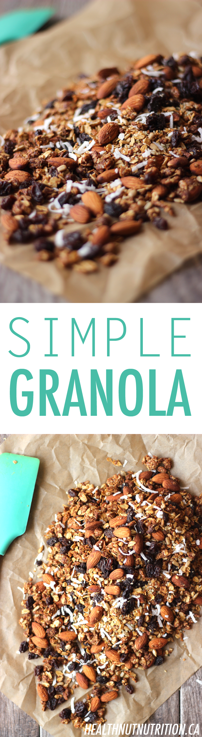 Easy Simple Granola recipe thats refined sugar free!