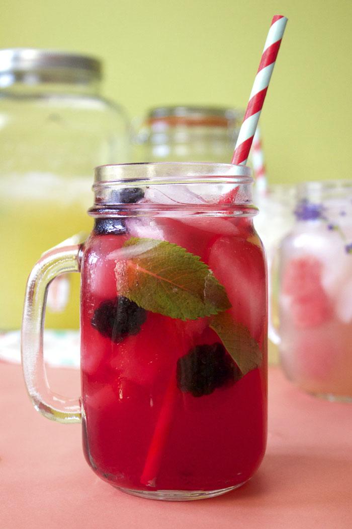 3 Summer detox, fruit and herb infused lemonade blends.