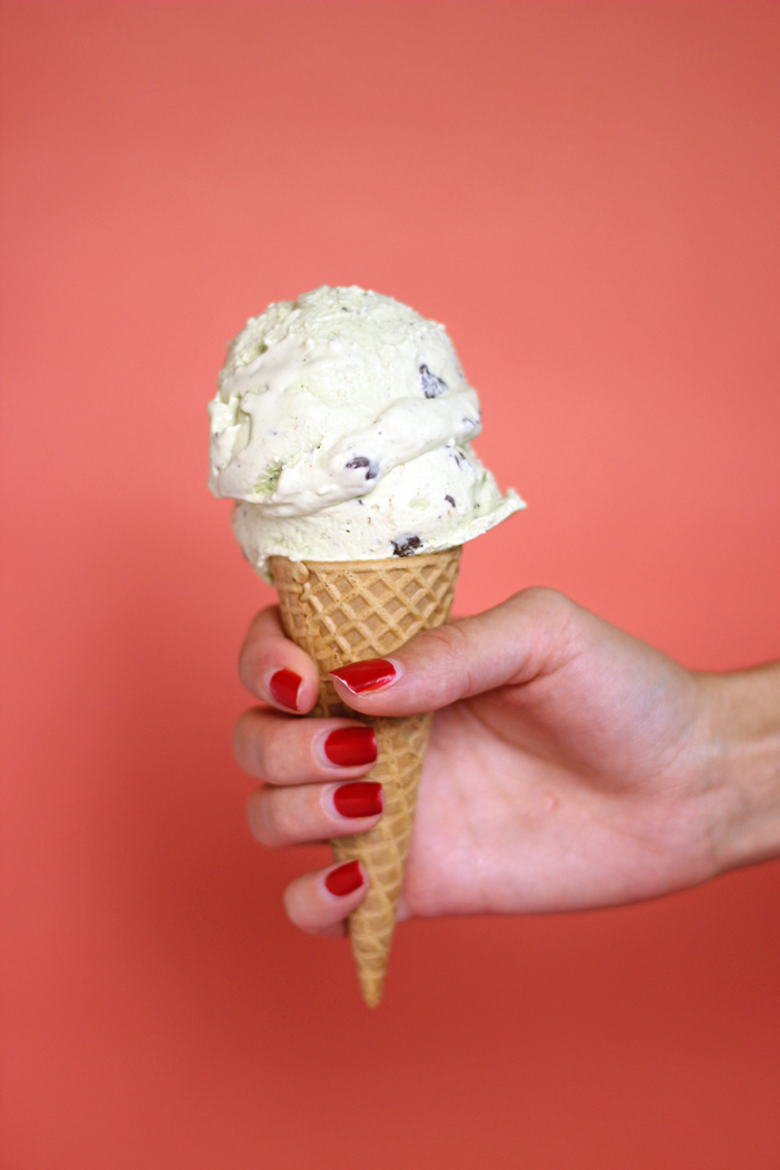 This dairy free creamy Mint Chocolate Chip Ice Cream is the perfect combination of fresh mint and chocolate that sure to cool you right off this summer.