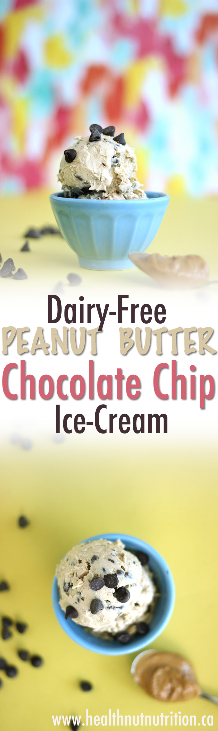 A sweet and salty ice cream with whipped peanut butter and crunchy chocolate chips scattered throughout. This Peanut Butter Chocolate Chip Ice-Cream is dairy-free and sure to please.