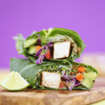 Tofu Collard Green Wrap with Thai Almond Sauce | Healthy Lunch Ideas