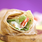 Chicken Caesar Avocado Tomato Wrap | Healthy Lunch Ideas