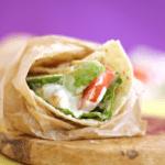 Chicken Caesar Avocado Tomato Wrap | Healthy Lunch Ideas