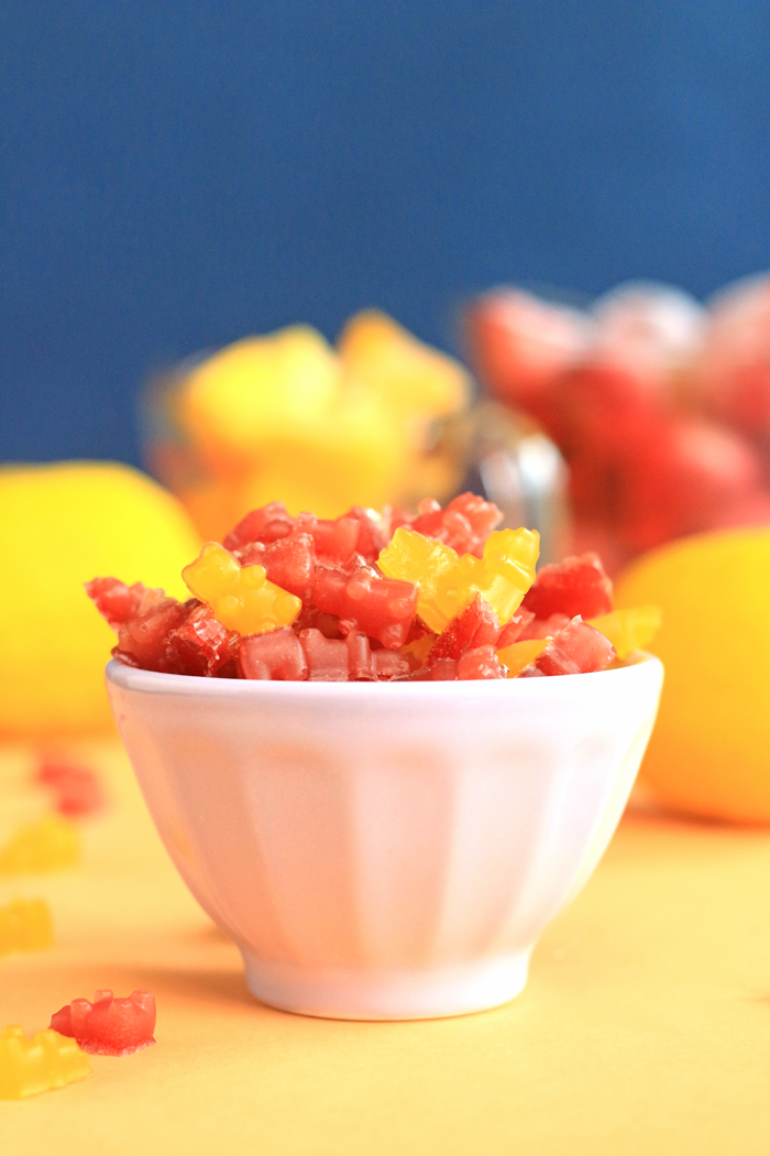 Healthy homemade mini gummy bears made with REAL fruit and no refined sugars or dyes. | HEALTHNUT NUTRITION|