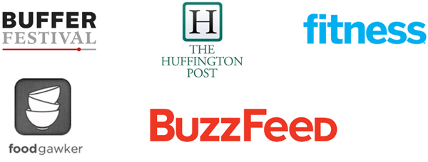 Featured on Buffer Festival, The Huffington Post, fitness, Food Gawker, BuzxzFeed