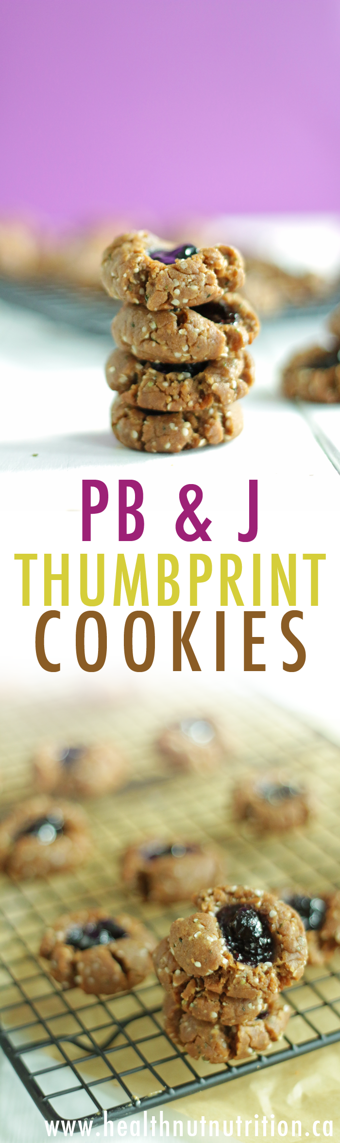 Super EASY & HEALTHY Peanut Butter & Jelly Cookies! | HEALTHNUT NUTRITION