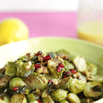Roasted Brussels Sprouts, Pomegranate and Walnut Salad