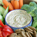 The Best Garden Vegetable Dip | Dairy-Free