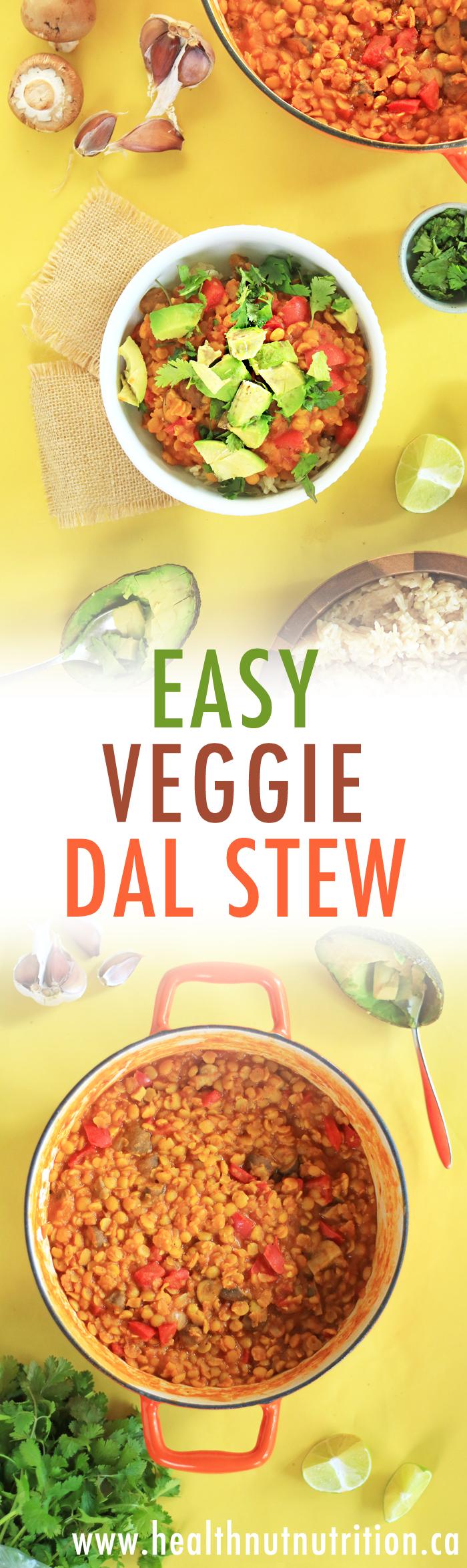 EASY GF & Vegan Veggie Dal Stew | HealthNut Nutrition