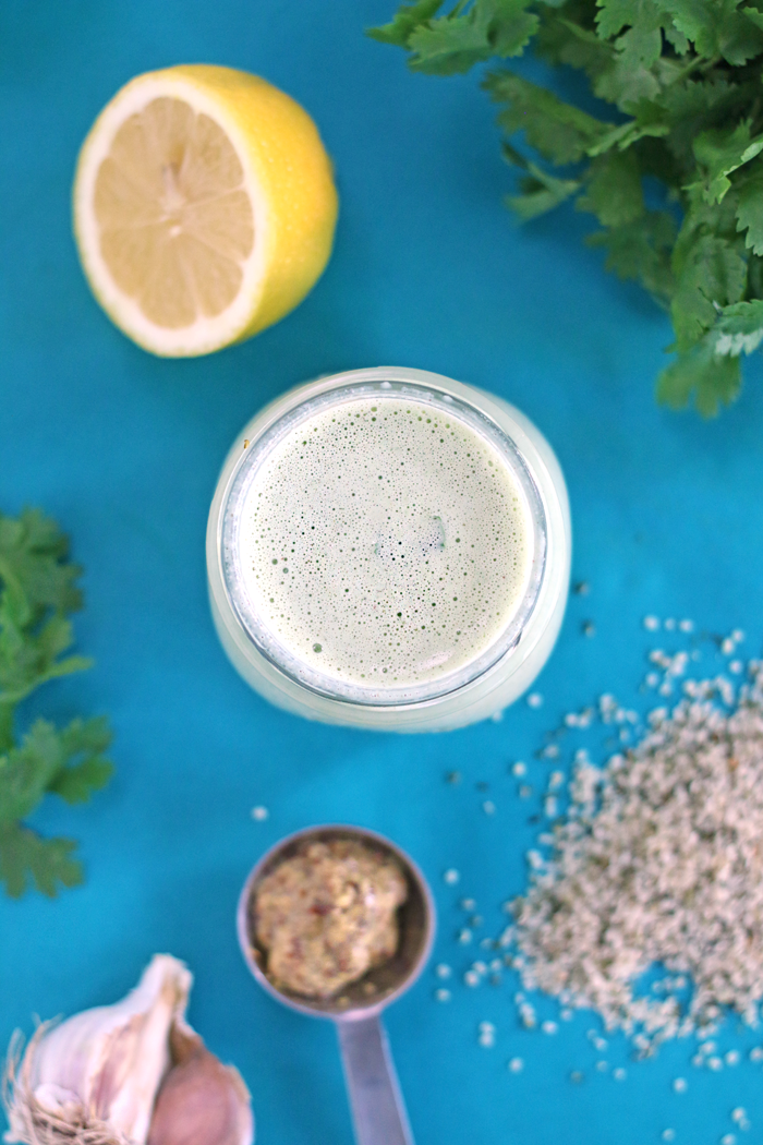 CILANTRO HEMP SALAD DRESSING, MADE IN 5 MIN! DF GF & V | HEALTHNUT NUTRITION