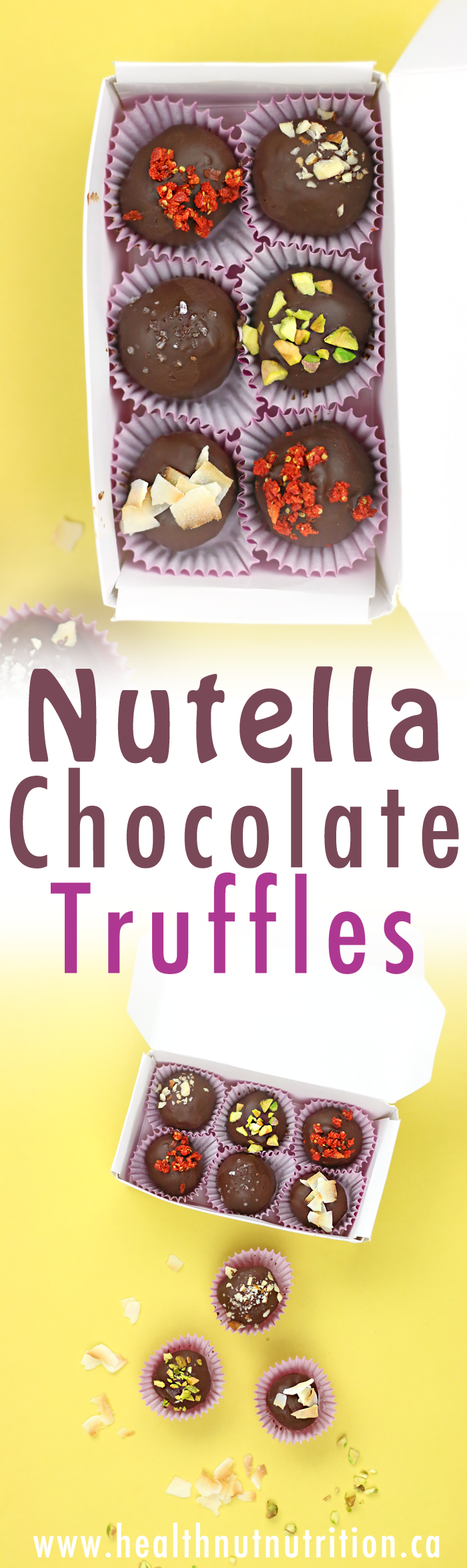Healthy Nutella Chocolate Truffles | V, GF & DF