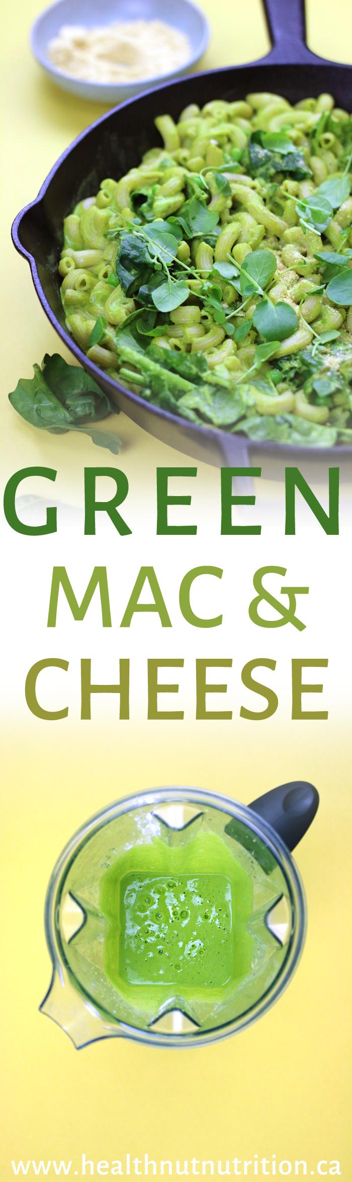 EASY GREEN MAC & CHEESE | DF & GF