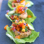 Healthy Salmon Burgers with Pineapple Salsa