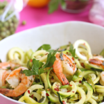 Spring Shrimp Pasta with Zucchini Noodles