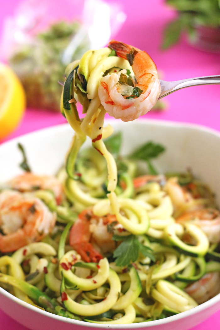 Easy and Healthy Spring Pasta Recipe with Zucchini Noodles