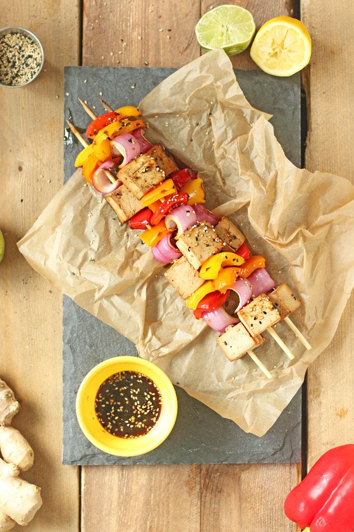 Healthy Summer BBQ Teriyaki Tofu Kebabs