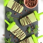 Mint Chocolate Chip Popsicles