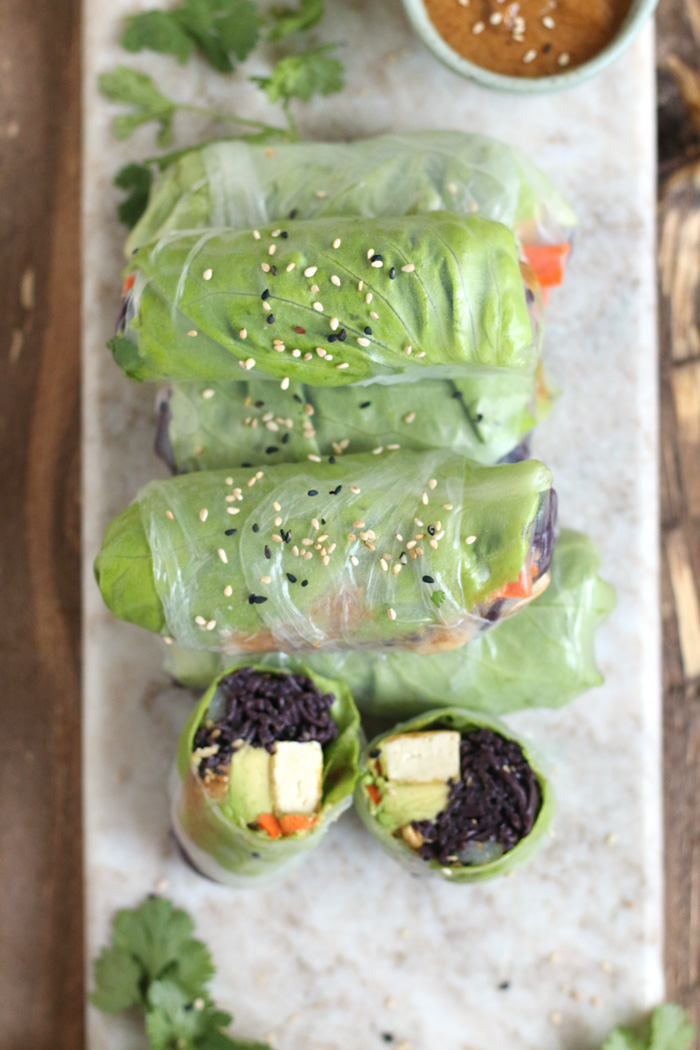 Easy Healthy Summer Rolls with a Savoury Nutty Sauce made in 30 min!
