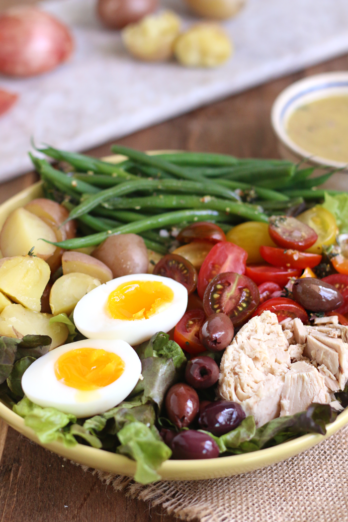 A Healthy Classic Nicoise Salad with a Simple French Vinaigrette. GF & DF