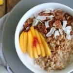 Creamy Coconut Chai Spiced Oatmeal