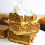 Healthy Pumpkin Pie Squares DF & GF