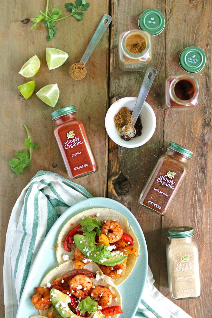 Healthy Sheet Pan Shrimp Fajitas in 30 min!