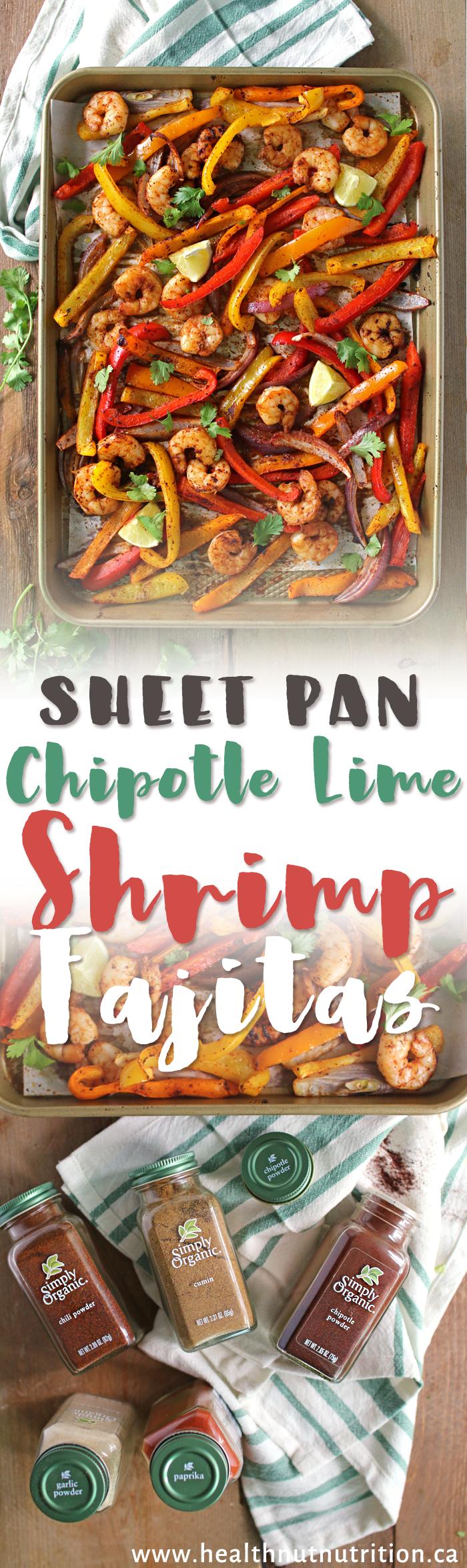 30 Min Easy Shrimp Fajitas! #ad @simplyorganicfoods