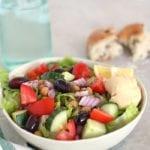 Greek Chickpea Chopped Salad