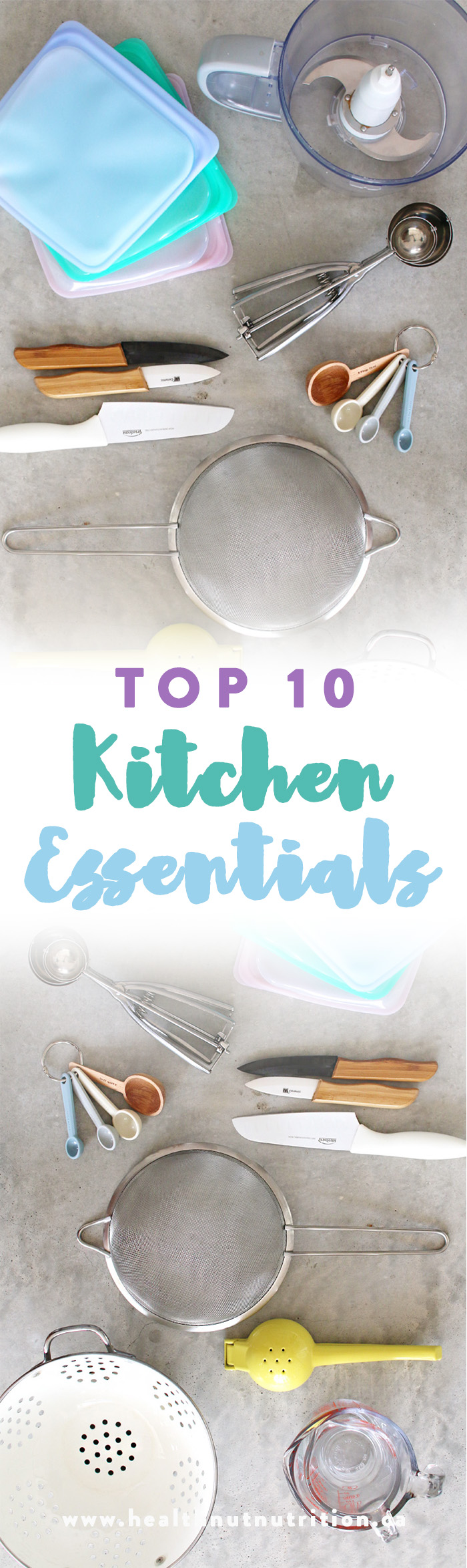 My top 10 kitchen essentials that I can't live without and think are a must in the kitchen.These little gadgets can totally upgrade your kitchen experience!