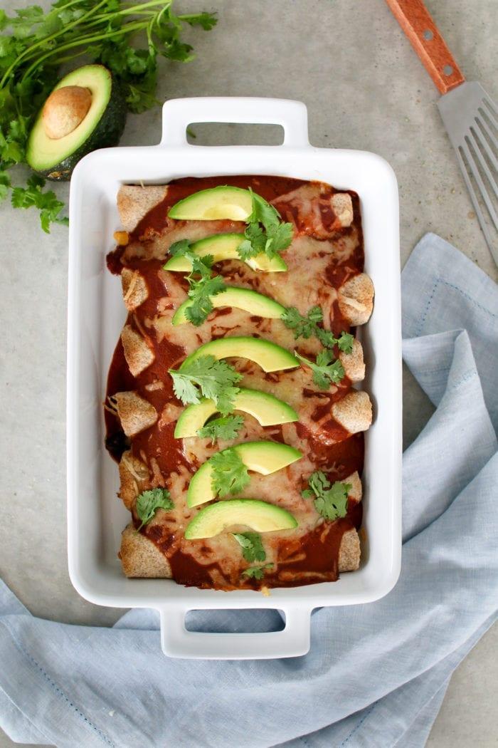 Chicken Black Bean Enchiladas