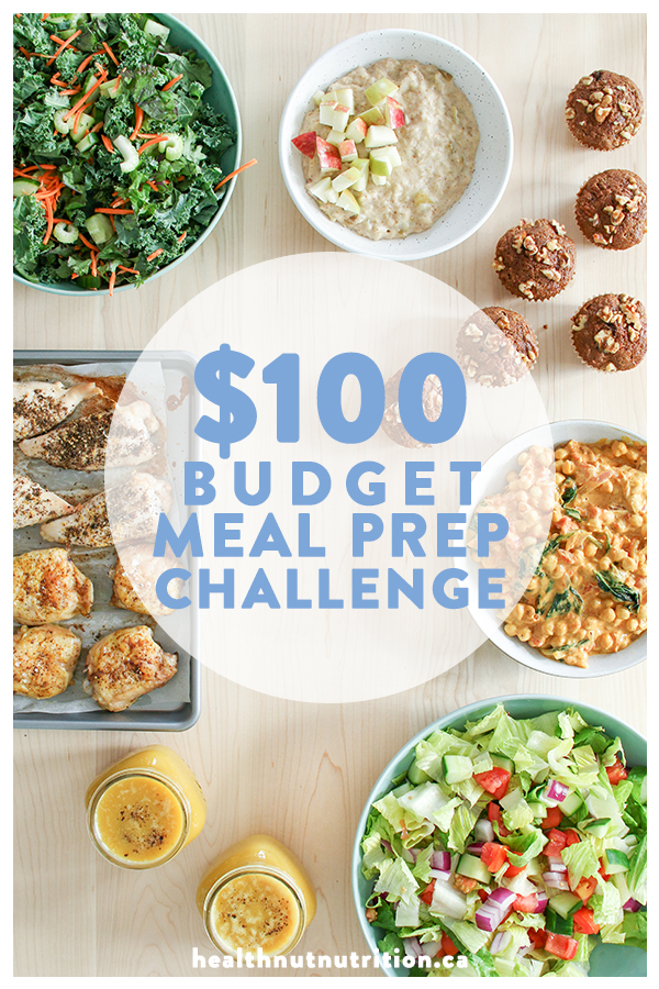 Cheap and easy healthy meals for 2, under $100!! Click through for the recipes and video, or pin to save for later!