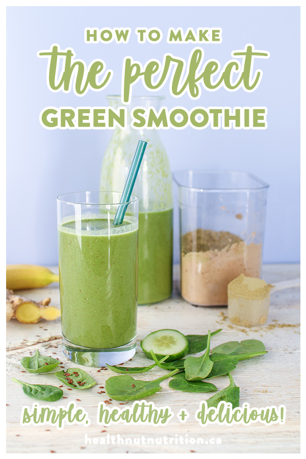 This perfect green smoothie is an amazing breakfast, post workout smoothie or perfect afternoon snack. Delicious, healthy and super quick to prepare!