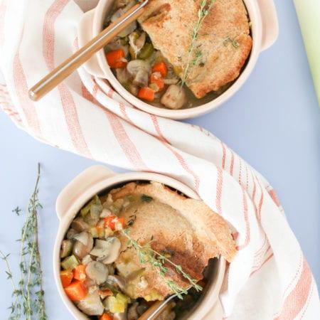 Mushroom Leek Chicken Pot Pie