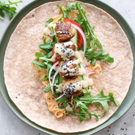 5-Minute Falafel Wraps