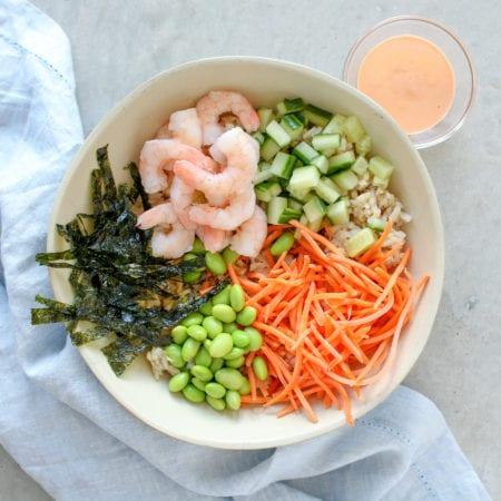 Easy Shrimp Sushi Bowl