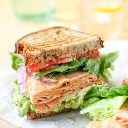 Grilled Chicken Avocado and Tomato Sandwich