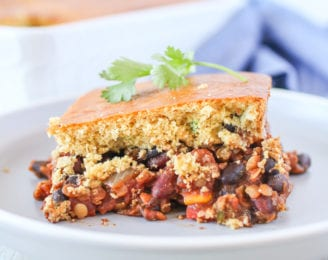 This one-dish casserole is vegetarian, gluten-free, dairy-free and combines two of my favourites, chili and cornbread, making it the perfect cozy meal that's sure to satisfy your entire family.