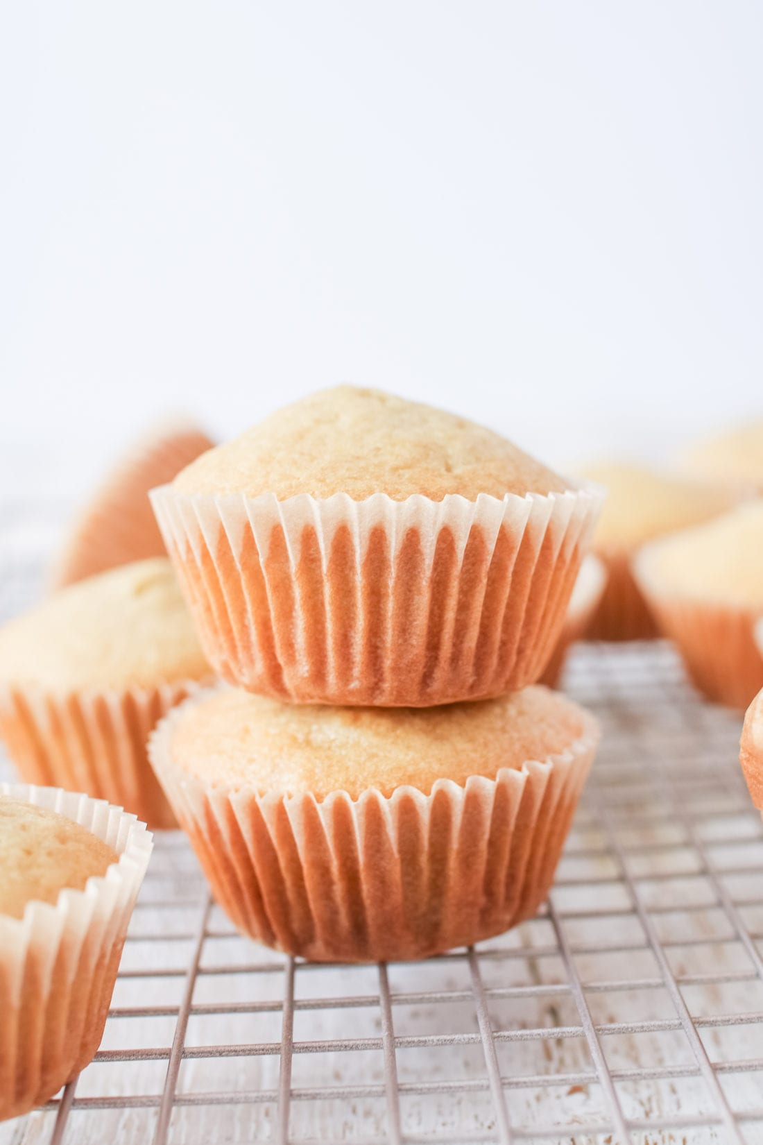 These light and fluffy vanilla cupcakes are a healthier twist on an old classic, made with spelt flour and lightly sweetened with honey!