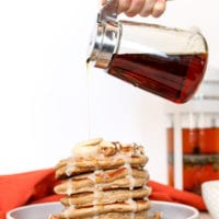Chai Spiced Pancakes with Coconut Butter Maple Glaze