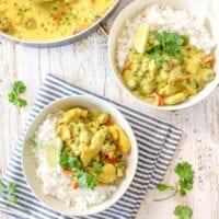 Golden Chicken Vegetable Curry