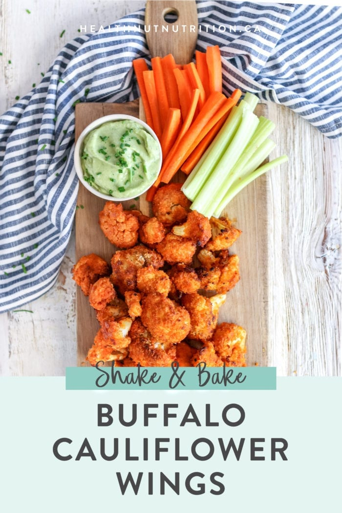 These healthy baked cauliflower wings are saucy and crispy on the outside and tender on the inside. They are full of flavour and perfect enjoyed as a side, appetizer or game night!