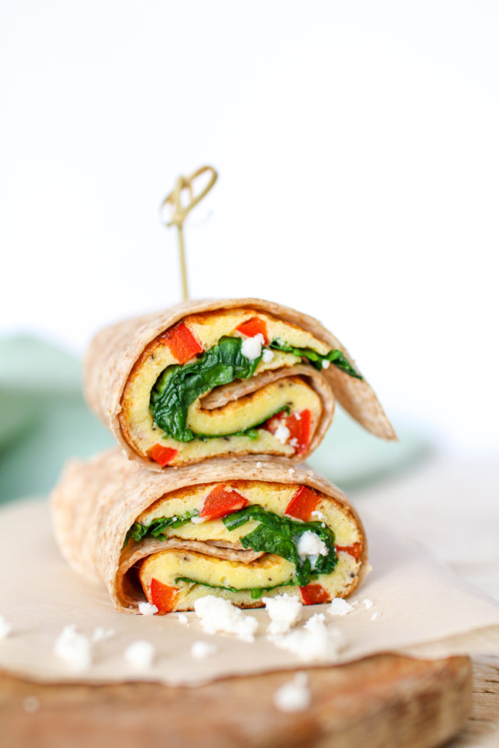A healthier spin on Starbucks' spinach and feta egg wrap, made right in the comfort of your own home. Filling, satisfying and ready in 5 minutes!